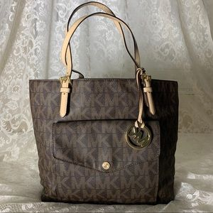 Michael Kors Jet Set Travel Large Tote Brown MK